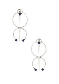 Saint Laurent Beaded Tribal Earrings