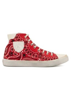 Saint Laurent Bedford bandana-print canvas high-top trainers