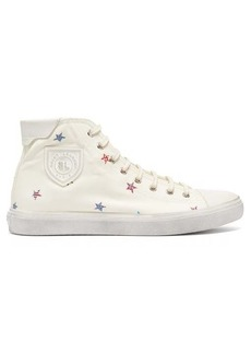 Saint Laurent Bedford star-print canvas trainers