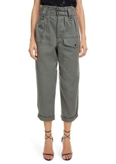 Saint Laurent Belted High Waist Cargo Pants