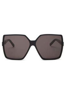 Saint Laurent Betty oversized square-frame acetate sunglasses