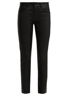 Saint Laurent Black leather trousers