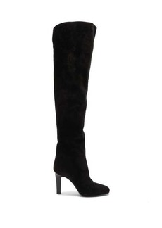 Saint Laurent Jane over-the-knee suede boots