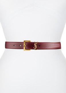 Saint Laurent Box Laque YSL Leather Belt
