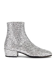 Saint Laurent Caleb Glitter Zip Boots