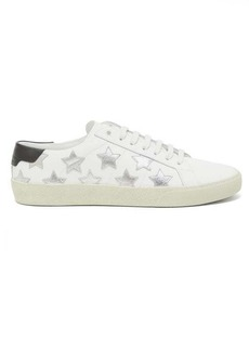 Saint Laurent California star-appliqué leather trainers