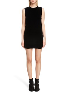 Saint Laurent Cape Back Velvet Dress