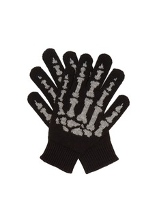 Saint Laurent Cashmere skeleton gloves