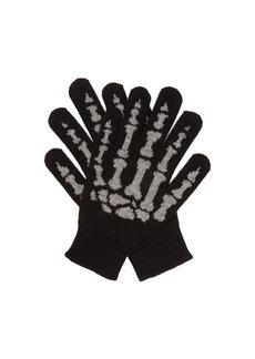 Saint Laurent Cashmere skeleton gloves