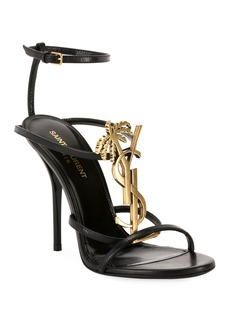 Saint Laurent Cassandre High Logo Sandals