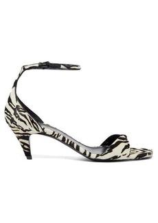 Saint Laurent Charlotte 55 tiger-effect calf-hair sandals