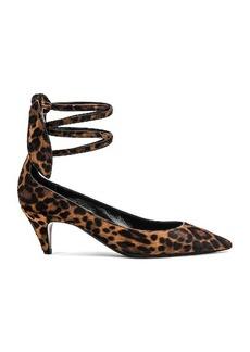 Saint Laurent Charlotte Leopard Kitten Heel