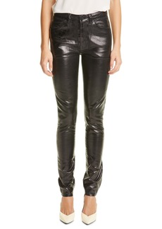 Saint Laurent Coated Skinny Jeans (Vinyle Shiny Black)