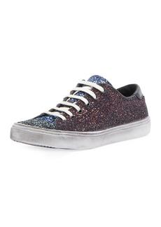 Saint Laurent Colorblock Glitter Low-Top Sneakers