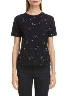 Saint Laurent Constellation Print Destroyed Crewneck Tee