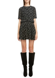 Saint Laurent Constellation Print Minidress