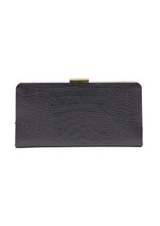 Saint Laurent Crocodile-effect leather clutch
