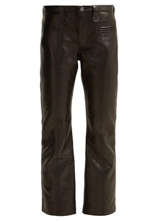 Saint Laurent Cropped leather trousers
