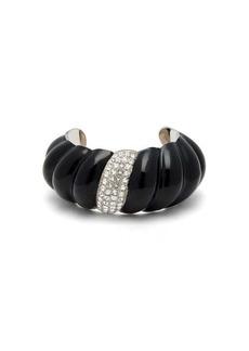 Saint Laurent Crystal-embellished twisted cuff