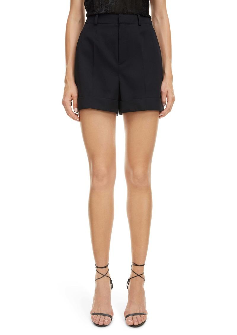 Saint Laurent Cuffed Wool Shorts