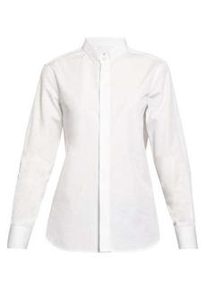 Saint Laurent Curved-hem poplin shirt