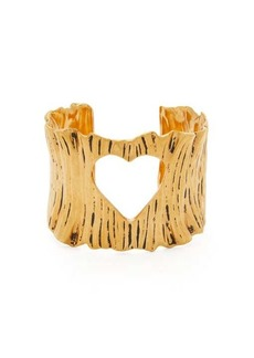 Saint Laurent Cutout heart cuff