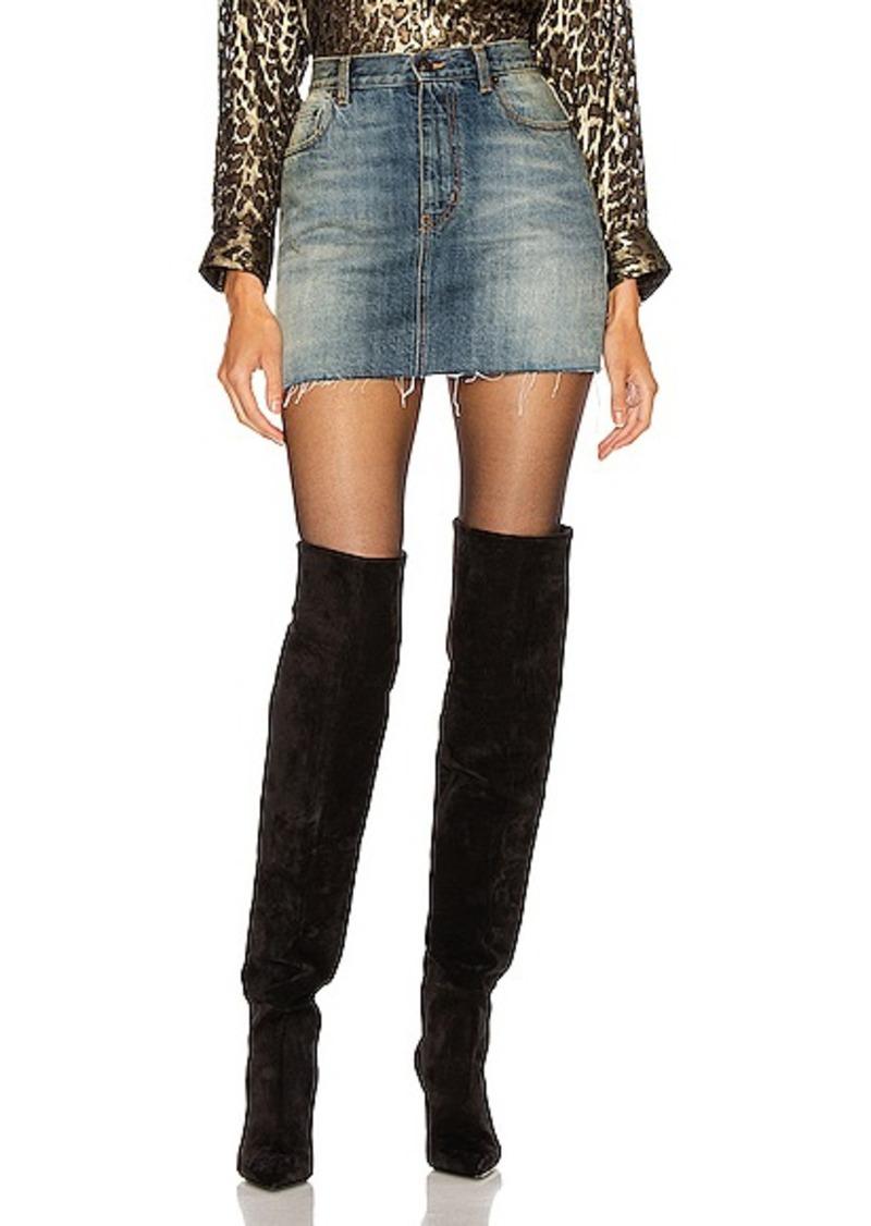 Saint Laurent Denim Mini Skirt