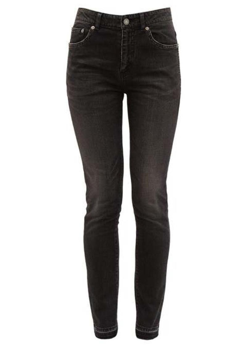 Saint Laurent Distressed cotton-blend skinny jeans