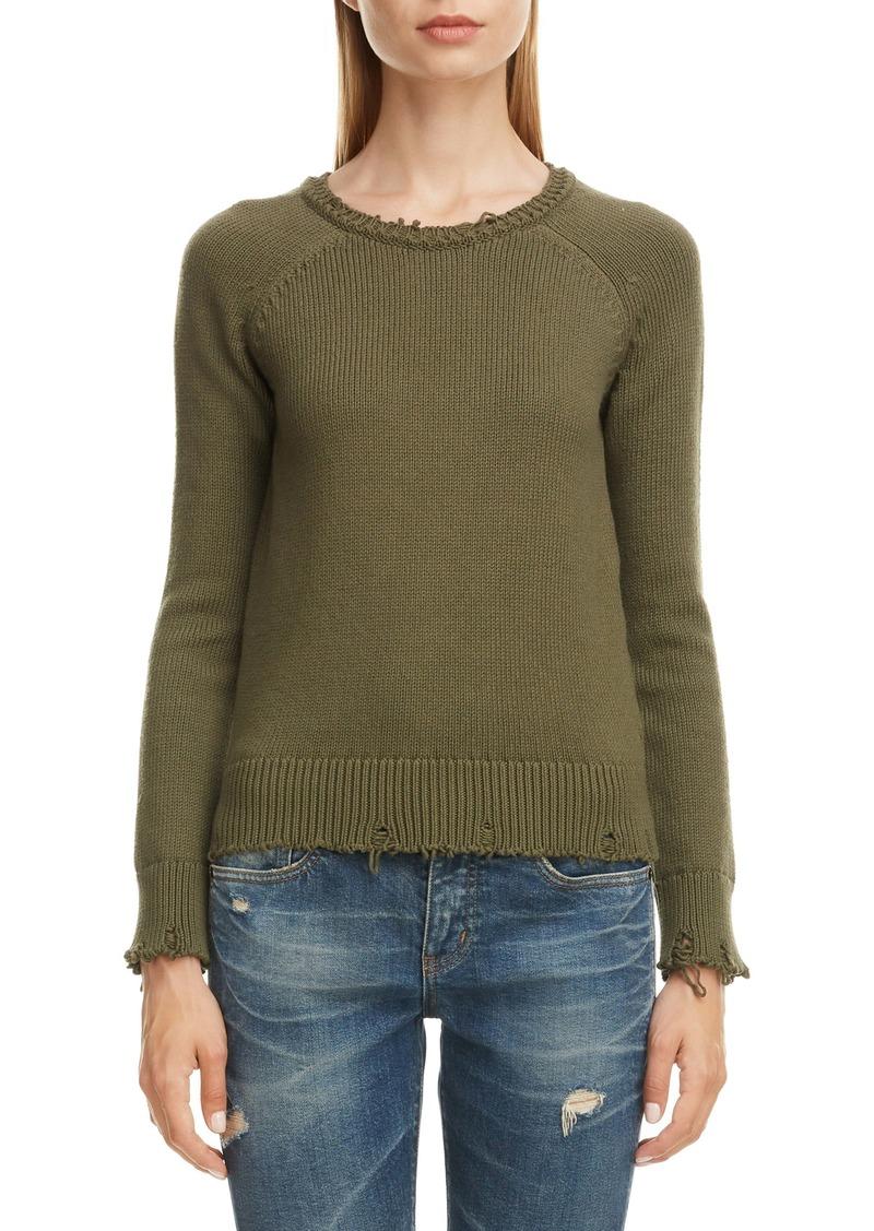 Saint Laurent Distressed Cotton Sweater