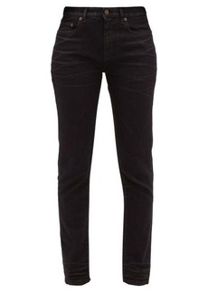 Saint Laurent Distressed slim-fit cotton jeans