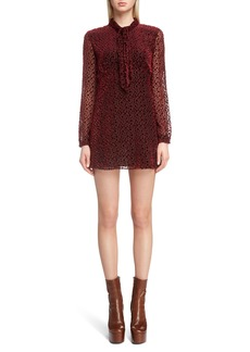 Saint Laurent Dot Minidress