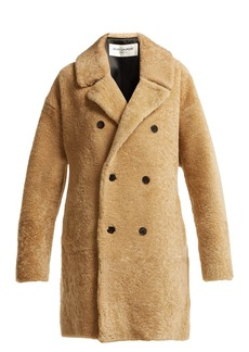 Saint Laurent Double-breasted shearling coat