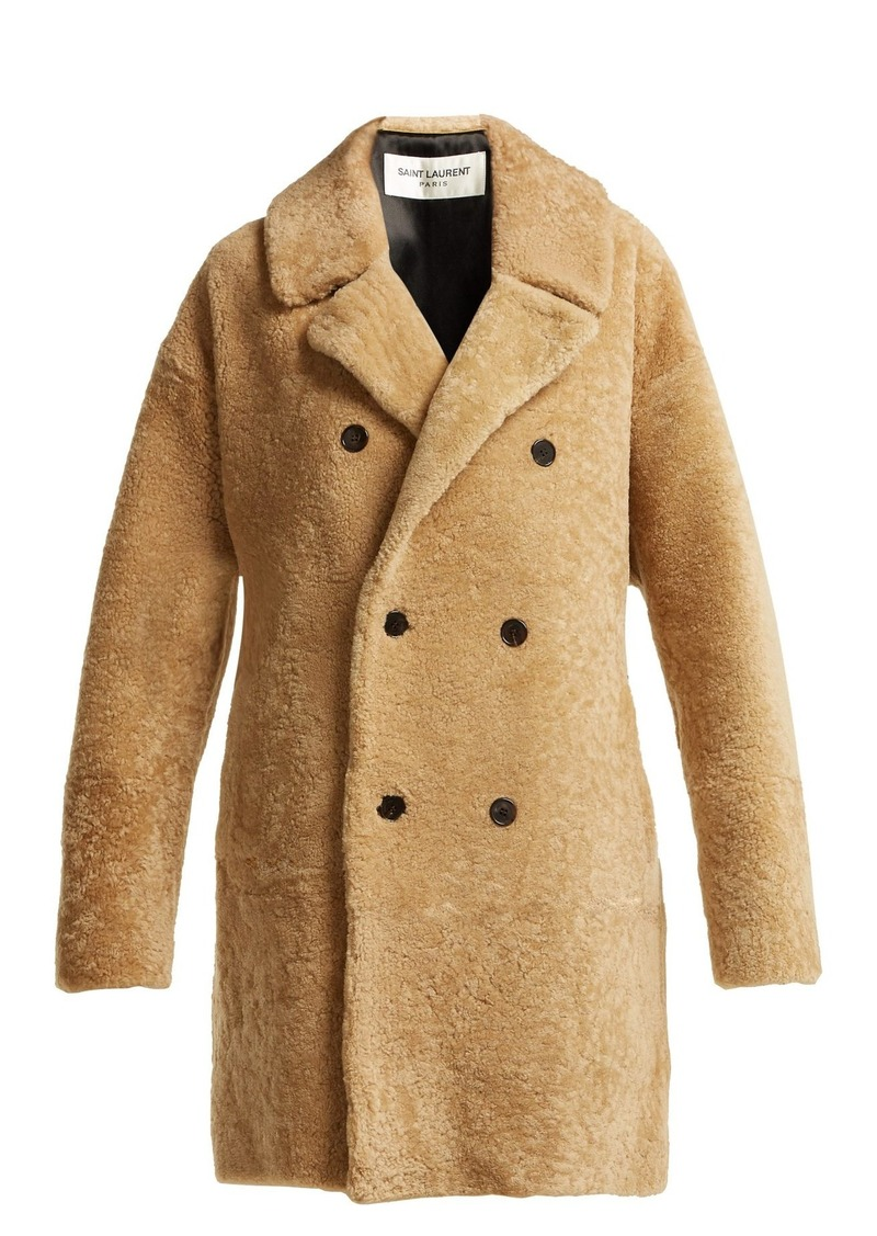 806606446e7 Saint Laurent Saint Laurent Double-breasted shearling coat   Outerwear