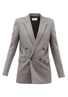 Saint Laurent Double-breasted virgin wool and cashmere blazer