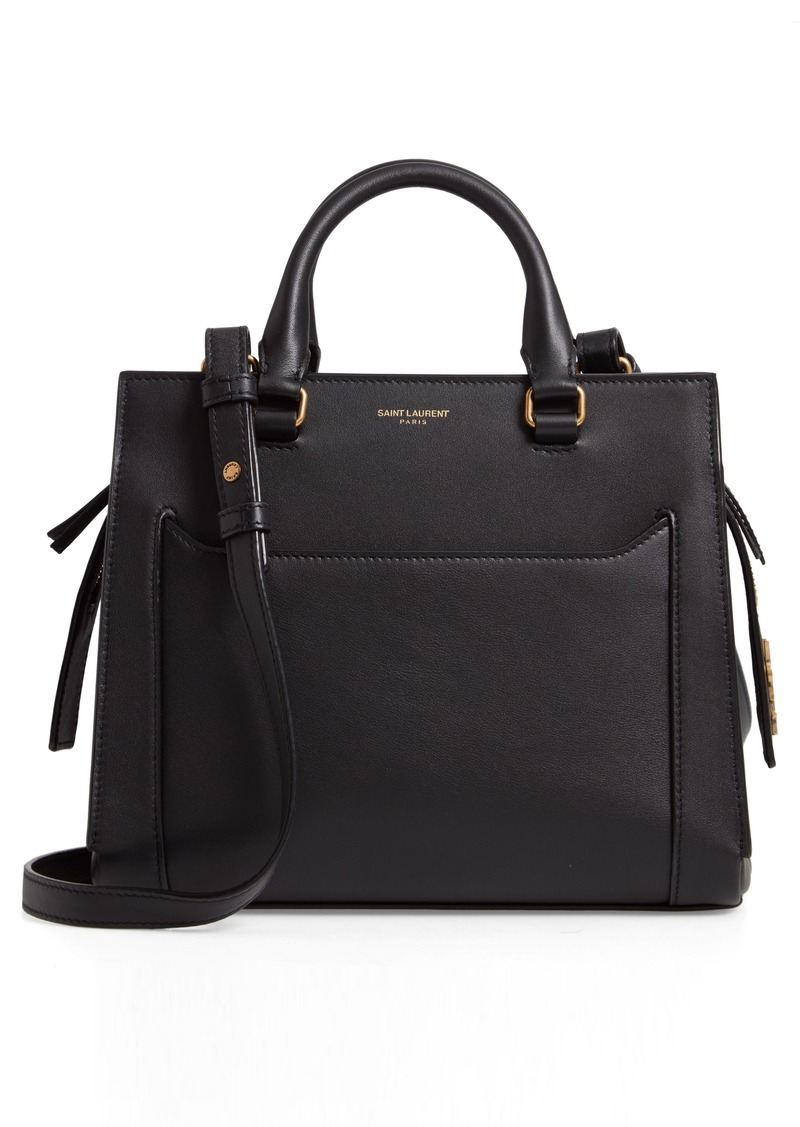 Saint Laurent East Side Baby Cabas Leather Satchel