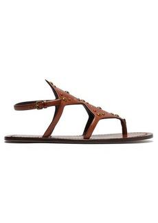 Saint Laurent Ella studded leather sandals