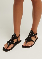 Saint Laurent Ella suede studded sandals