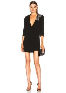 Saint Laurent Embellished Blazer Wrap Dress