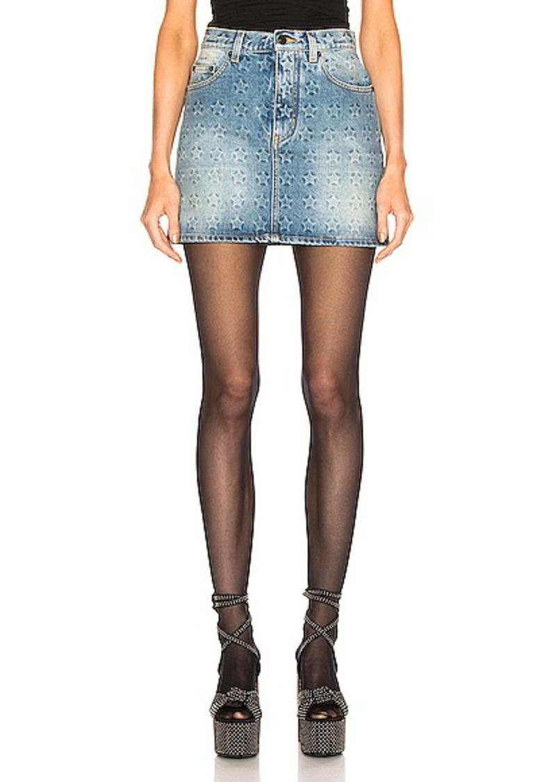 Saint Laurent Embossed Star Classic Skirt