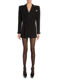 Saint Laurent Exaggerated Double-Breasted Blazer Dress