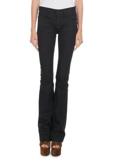 Saint Laurent Exposed-Button Flare Jeans