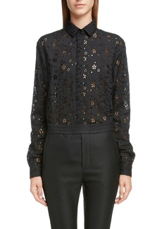 Saint Laurent Eyelet Button-Up Shirt