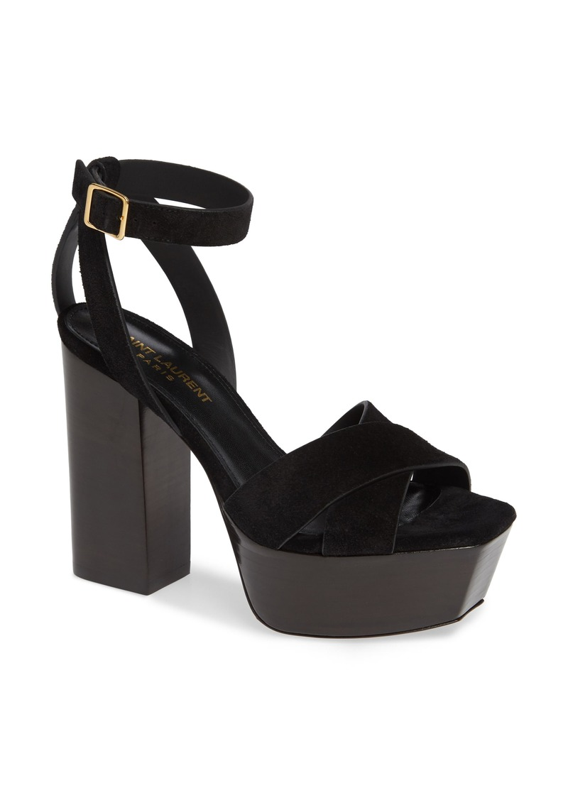 b72c6422c46 Saint Laurent Saint Laurent Farrah Platform Sandal (Women)