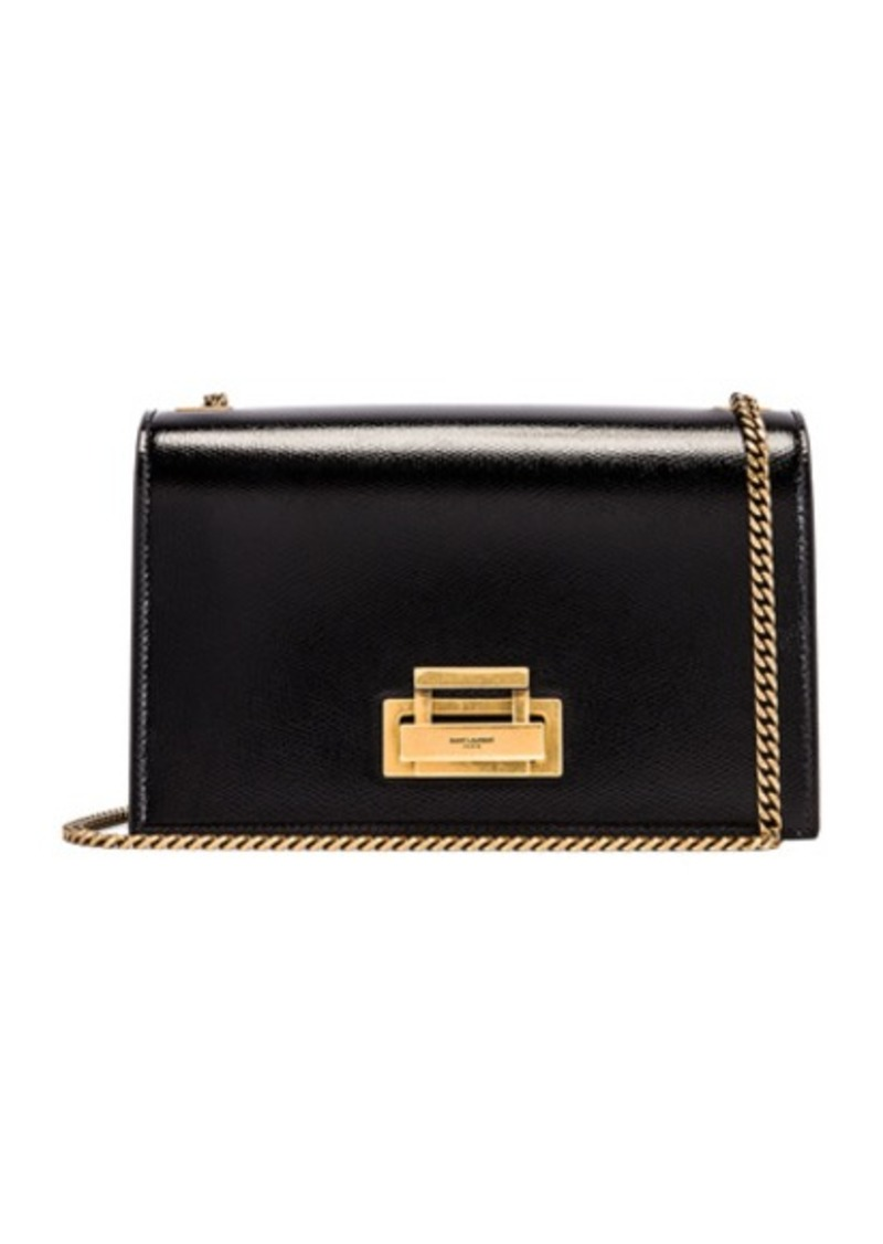 Saint Laurent Fermoir Art Deco Leather Crossbody Chain Bag