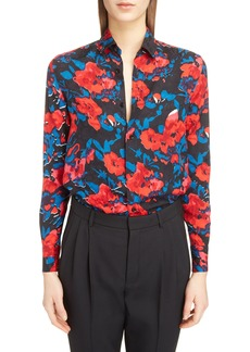 Saint Laurent Floral Jacquard Shirt