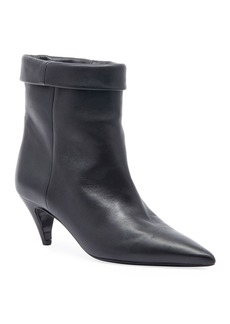 Saint Laurent Fold-Over Pointed Booties