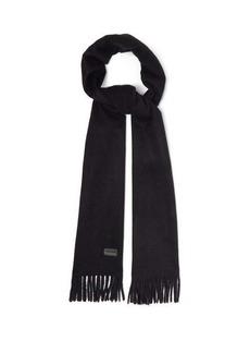 Saint Laurent Fringed cashmere scarf