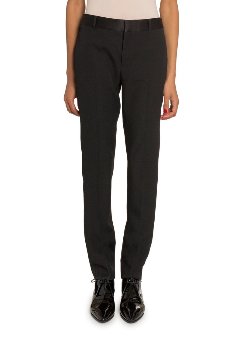Saint Laurent Gabardine Skinny Trousers