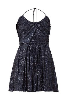 Saint Laurent Halterneck sequinned mini dress