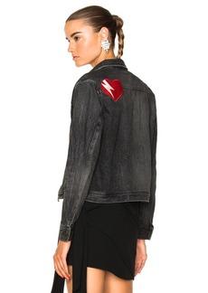 Saint Laurent Heart Patch Denim Jacket